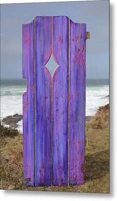 Purple Gateway To The Sea Metal Print by Asha Carolyn Young