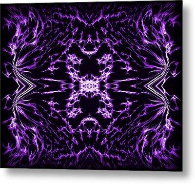 Purple Series 9 Metal Print by J D Owen