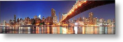 Queensboro Bridge And Manhattan Metal Print