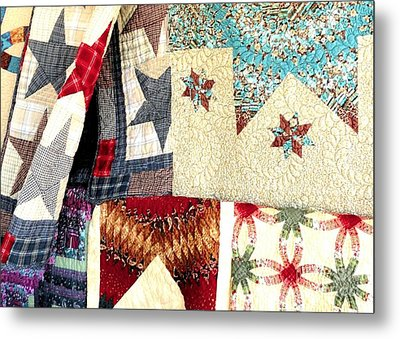Metal Print featuring the photograph Quilts For Sale by Janette Boyd