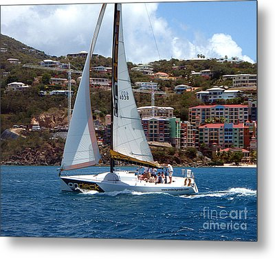 Metal Print featuring the photograph Racing At St. Thomas 1 by Tom Doud