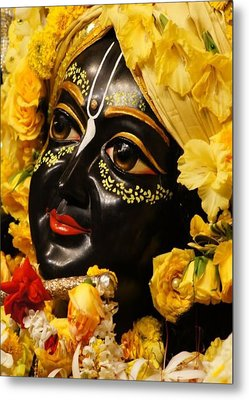 Radha Krishna Idol Hinduism Religion Religious Spiritual Yoga Meditation Deco Navinjoshi  Rights Man Metal Print