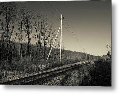Railroad Track Passing Metal Print