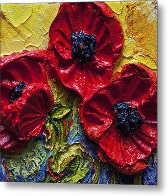 Red Poppies Metal Print by Paris Wyatt Llanso