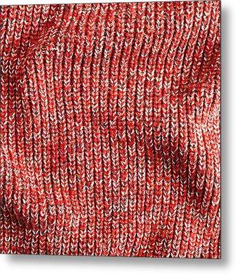 Red Wool Metal Print by Tom Gowanlock