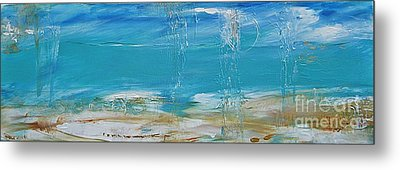 Metal Print featuring the painting Reflections by Diana Bursztein