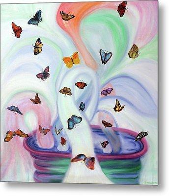 Releasing Butterflies Metal Print by Jeanette Sthamann