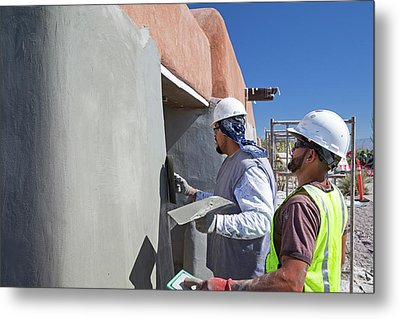 Repairing White Sands Visitor Centre Metal Print by Jim West