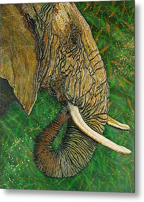 Metal Print featuring the painting Respect by Debbie Chamberlin