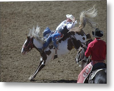 Ride Em Cowboy Metal Print by Jeff Swan
