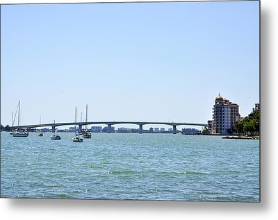 Ringling Bridge Afternoon Sarasota Florida Metal Print