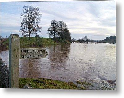 River Eden Flooding. Metal Print by Mark Williamson