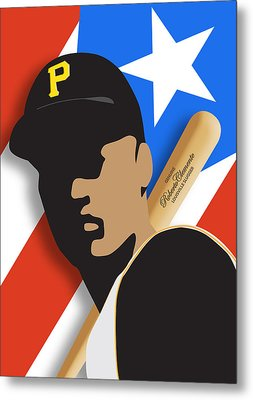 Roberto Clemente Metal Print by Ron Regalado