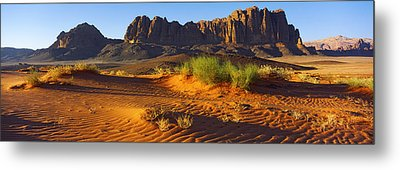 Rock Formations In A Desert, Jebel Metal Print by Panoramic Images
