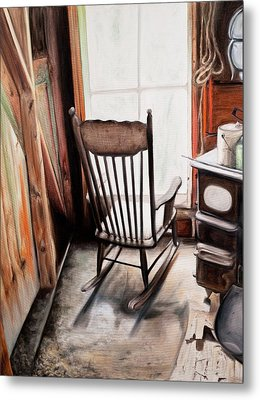 Rocking Chair Metal Print by S Aili