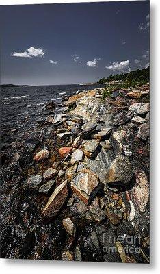 Rocky Shore Of Georgian Bay Metal Print by Elena Elisseeva