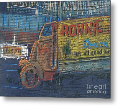 Metal Print featuring the painting Ronnie John's by Donald Maier