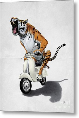 Rooooaaar Wordless Metal Print by Rob Snow