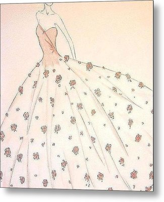 Rose Ball Gown   Metal Print by Christine Corretti