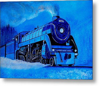 Royal Blue Express Metal Print by Pjohn Artman