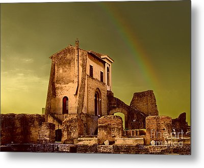 Ruin At Palatine Hill Metal Print by Julian Cook