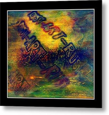 Rust-art 04 Metal Print by Gertrude Scheffler