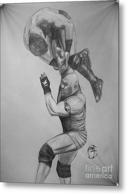 Metal Print featuring the drawing Ryback by Justin Moore