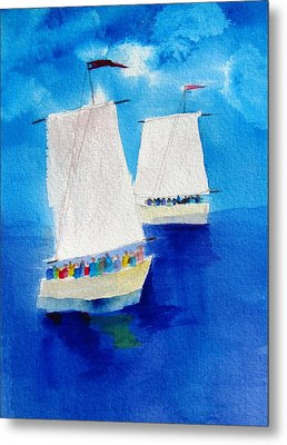 2 Sailboats Metal Print by Carlin Blahnik