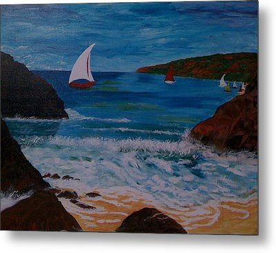 Sails Metal Print by Judi Goodwin