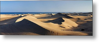 Sand Dunes In A Desert, Maspalomas Metal Print