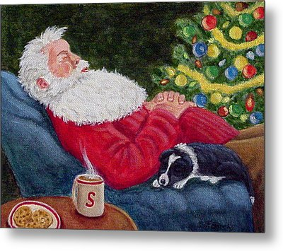Santa And Breagh Metal Print by Fran Brooks