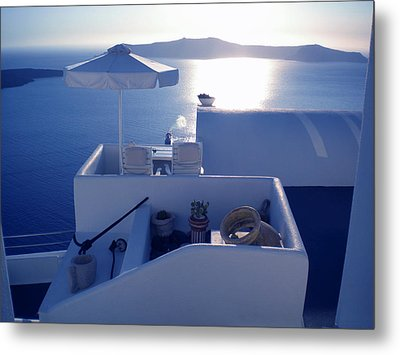 Santorini Island Greece Metal Print