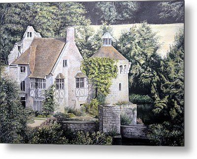 Metal Print featuring the painting Scotney Castle by Rosemary Colyer