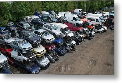 Scrap Cars Metal Print by Robert Brook