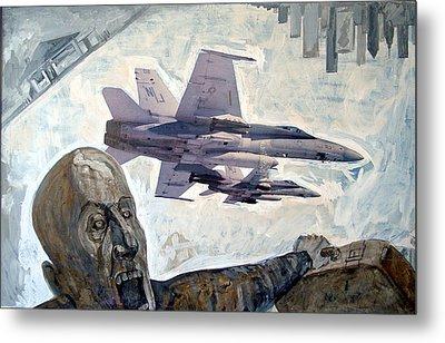 Scream Metal Print by Filip Mihail