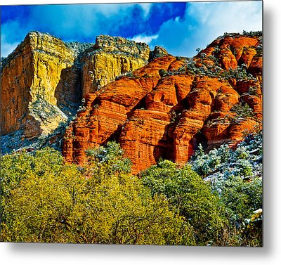 Metal Print featuring the photograph Sedona Arizona - Wilderness Area by Bob and Nadine Johnston