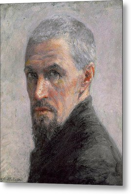 Self Portrait Metal Print by Gustave Caillebotte