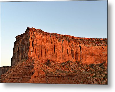 Sentinel Mesa Monument Valley Metal Print by Christine Till