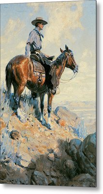 Sentinel Of The Plains Metal Print by William Herbert Dunton