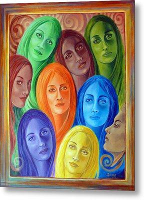 Serene Sisters Metal Print by Sylvia Kula