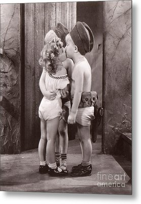 Shirley Temple And Gang - Sepia Metal Print by MMG Archives