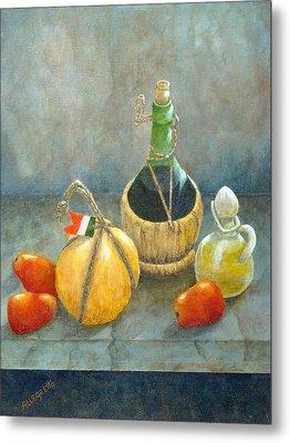 Sicilian Table Metal Print by Pamela Allegretto