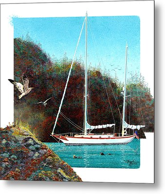 Silent Anchorage Metal Print