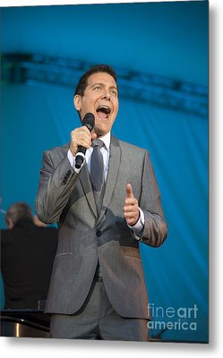 Singer Michael Feinstein Performing With The Pasadena Pops. Metal Print