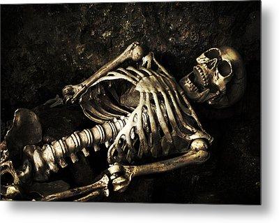 Skeleton  Metal Print by Amanda Elwell