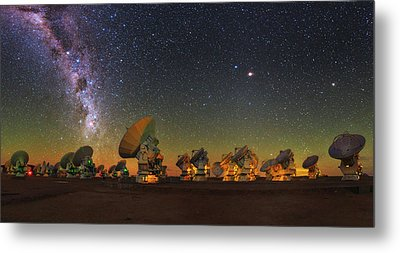 Sky Above Alma Radio Telescope Metal Print