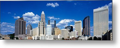 Skyscrapers In A City, Charlotte Metal Print by Panoramic Images