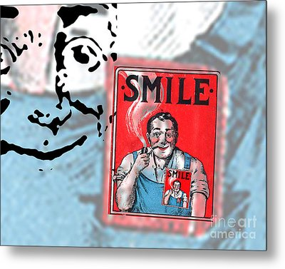 Smile Metal Print by Edward Fielding