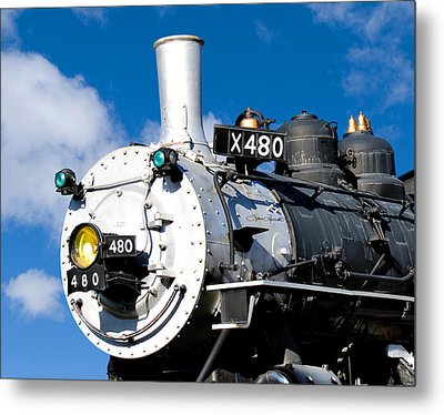 Smiling Locomotive Metal Print