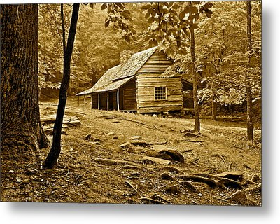 Smoky Mountain Cabin Metal Print by Frozen in Time Fine Art Photography